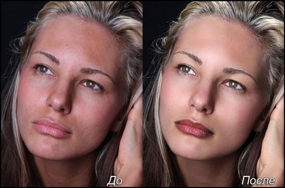 Как сделать в фотошопе цвет лица